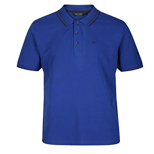 Regatta Herren Talcott II Coolweave Polo-Shirts aus Bio-Baumwolle, Gerippter Kragen und Ärmelbündchen, Bright Royal, L