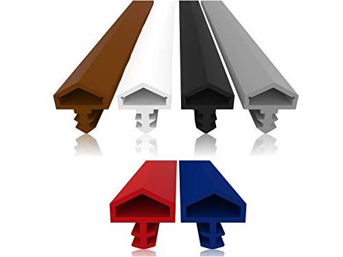 Dörrtäthet med antitöjningsfläkt – 4 mm spårbredd – 7 mm spårdjup – 12 mm veck snabb enkel installation högklassig ytterdörrtätning gummitätning dörrtäthet (röd 10 m)