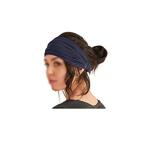 Wzdszuiltd Cinta Pelo Deporte Cinturón de Yoga de Deportes de algodón de Ancho sólido para Mujeres Hombres livianos pañuelos elástico Hairbands Turban Accesorios Headwear (Color : Gray)