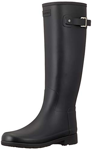 HUNTER Damen Original Refined Gummistiefel, Schwarz (Black), 42 EU