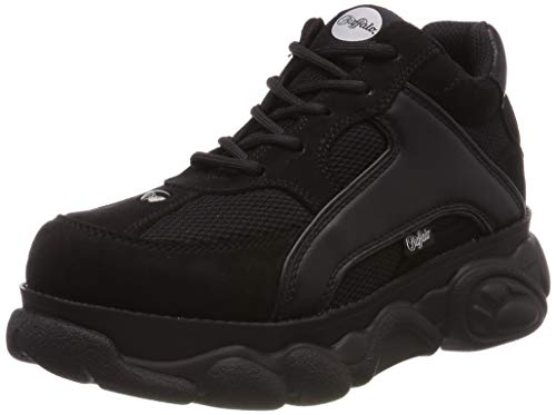Buffalo Damen Colby Sneaker, Schwarz (Black 000), 39 EU