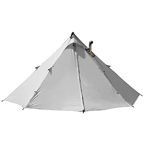 [Amazonブランド] Eono(イオーノ)ツーリングテント 1人用 キャンプ テント 薪ストーブ用煙突穴あり ソロテント ワンポール 軽量 収納バッグ付き