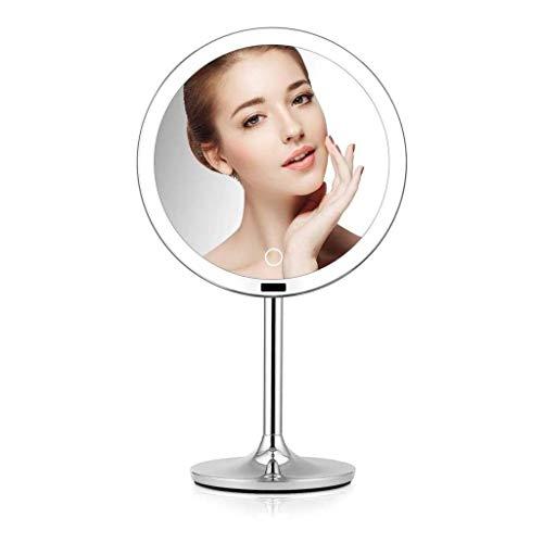 Style européen 8.5in Lighted miroir de maquillage avec capteur, Portable Bureau Vanity Beauté Miroir Voyage, Charging USB/Stepless Dimming, jour de jour/Mère Saint-Valentin cadeau