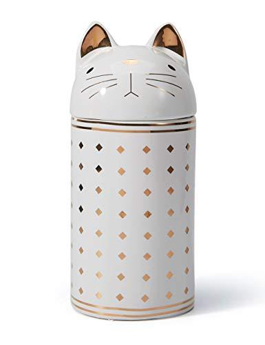 Amoy-Art Barattoli Contenitore Alimentari Scatola con Coperchio Gatto Barattolo Zucchero caffè Biscotti Regali Pulizia Facile Sicurezza Alimentare Confezione Regalo Ceramica 20cmH