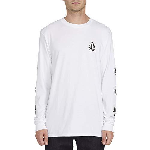 Volcom Men's Deadly Stones Long Sleeve T Shirt White 2XL