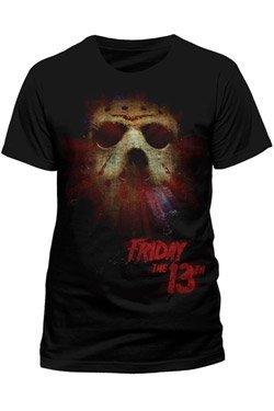 Vrijdag van de 13e T-shirt Mask Glow maat M friday the 13th