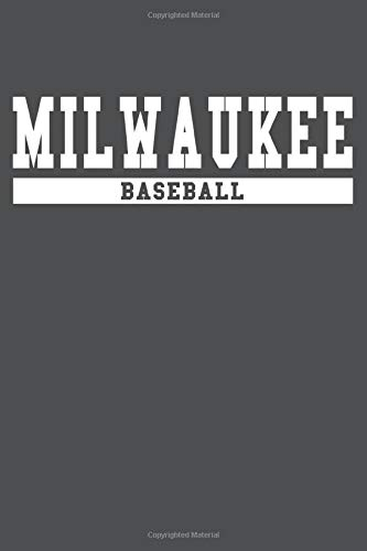 Milwaukee Baseball: American Campus Sport Lined Journal Notebook