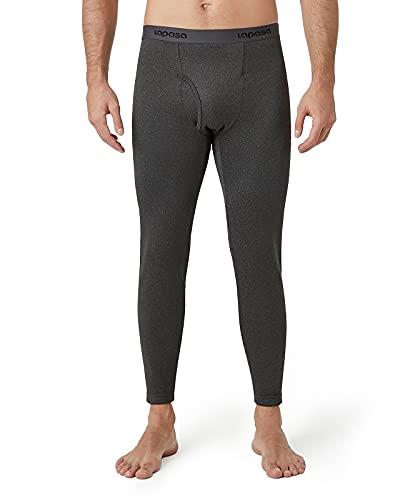LAPASA Ropa Térmica para Hombre Pantalón Extra-Warm Brushed Back Fabric Technique M25