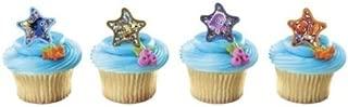 CakeDrake Finding NEMO Fish DORY 24 Starfish Birthday PARTY Favor CUPCAKE Cake Topper RING