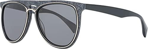 Yohji Yamamoto 5024-463-56-16-140 Gafas de sol unisex con marco de plástico negro