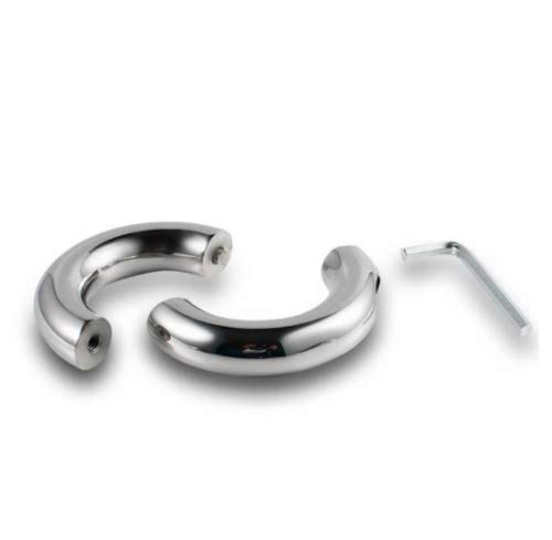 Penisringe mit Schraubverschluss verschiedene Größen Edelstahl Metall Cock Ring Größe 50 mm