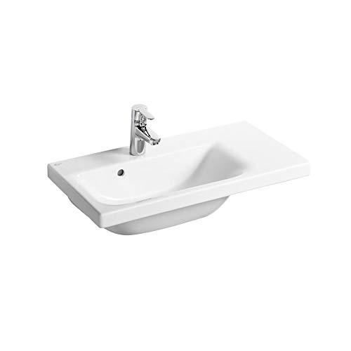Ideal Standard E134201 Concept Space Waschbecken, 70 cm, für Sockel oder Möbel, rechts, 1 Hahnloch
