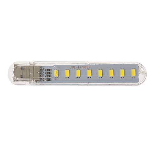 Nikunty Mini USB lámpara luz noche oficina computadora DC5V 8 LED destacar perlas portátiles