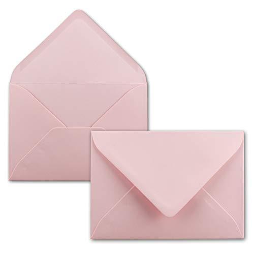 50 Brief-Umschläge - Rosa - DIN C6-114 x 162 mm - Kuverts mit Nassklebung ohne Fenster für Gruß-Karten & Einladungen - Serie FarbenFroh
