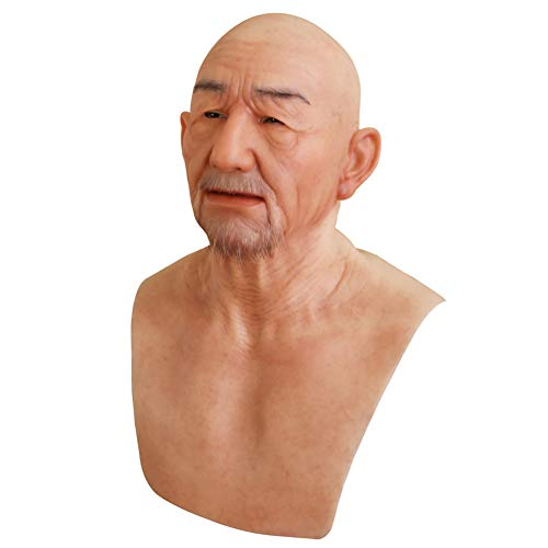 Yuewen William Old Man Mask von Handmade für Halloween Cosplay Masquerade Party Crossdressing (#1)
