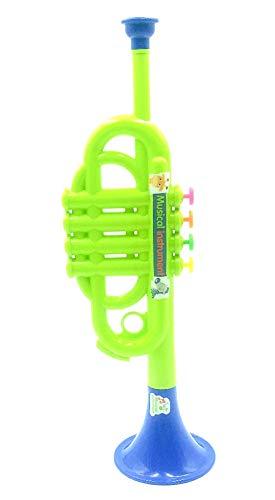 Toy Insturmentos Musicales, Trompeta de plástico, Horas de diversión, 3+