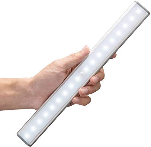 MOSTON 18 LED USB Recargable magnético Movimiento Sensor Luces nocturnas,Auto en/apagado Portátil Sin cable,palo en cualquier sitio para armario