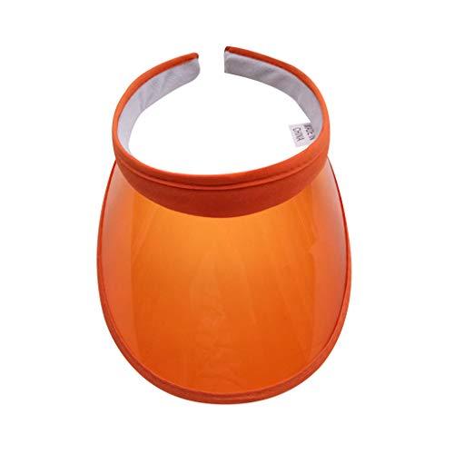 gulang-keng Sombrero unisex de verano con protección UV y protección UV, con visera abierta, de plástico PVC transparente, ala ancha con clip, para correr, playa, viajes, senderismo, 10 colores