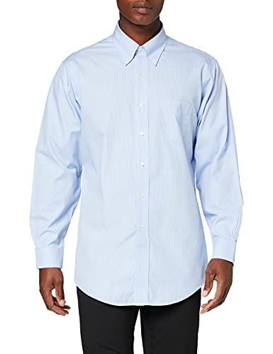 Brooks Brothers Camicia Regent Taschino Manica Lunga Chemise Business, Turquoise (Light/Pastel Blue 455), Small (Taille Fabricant: 15 33) Homme