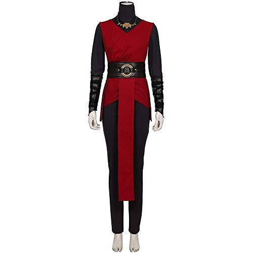 Star Wars Jedi: Gefallene Auftrag Cosplay Uniform Mantel Kostüm Full Set Halloween Karnevals-Party-Set Black+Red-2XL