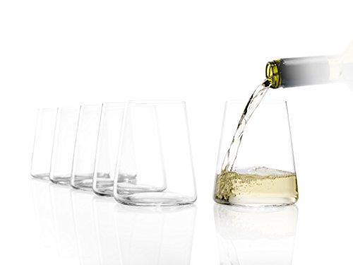 Stölzle Lausitz Power - Vasos de vino pequeños (380 ml, 6 unidades, apto para lavavajillas, cristal sin plomo, alta calidad, elegante y resistente a la rotura)