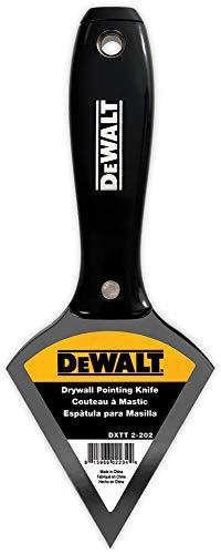 DEWALT Pointing Putty Knife| Stainless Steel w/Black Nylon Handle | DXTT2202