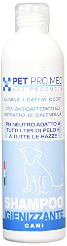 Virosac PetProMed - Shampoo Igienizzante ideale per eliminare i cattivi odori del manto del cane - 1 flacone da 250 ml con estratto di calendula