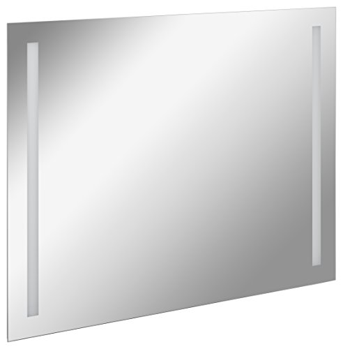 FACKELMANN LED Spiegel linear Mirrors/Wandspiegel mit LED-Beleuchtung und Ambientelicht/Maße (B x H x T): ca. 100 x 75 x 2 cm/hochwertiger Badspiegel/moderner Badezimmerspiegel/Breite 100 cm