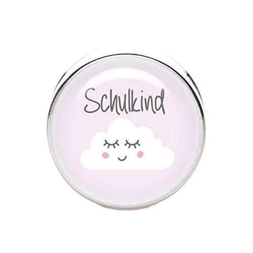KT-Schmuckdesign Schiebeperle Schulkind Wolke rosa- 12mm