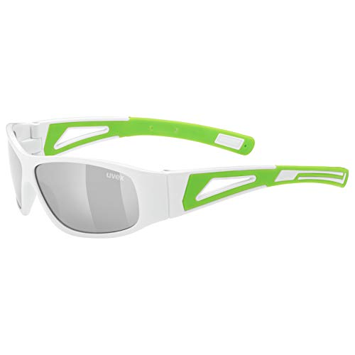 uvex Unisex Jugend, sportstyle 509 Sonnenbrille, white green, one size