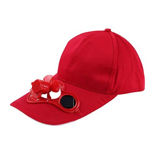 XQxiqi689sy Ventole di Raffreddamento Estate Unisex Sport Outdoor Baseball Caps Cappelli con Ventilatore di Raffreddamento a energia Solare