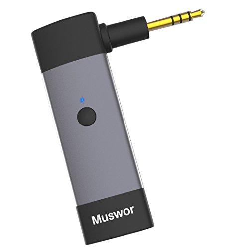 Muswor Bluetooth Receptor Adaptador inalámbrico para Audio Technica ATH-M50x / ATH-M40x / ATH-M70x auriculares (no compatible con ningún otro)
