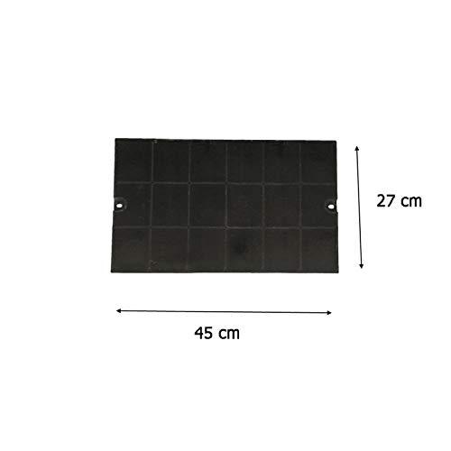 MarelShop®-Filtro carbone rettangolare 47x25cm cappa per Faber compatibile