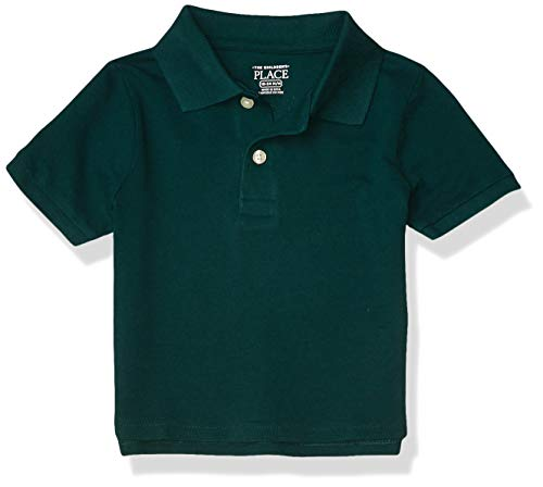 The Children's Place Boys' Baby and Toddler Uniform Pique Polo, Spruce Shade, 2T