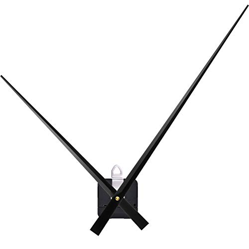 High Torque Clock Movement Mechanism with 17.8 Inch Long Clock Hands (Black)