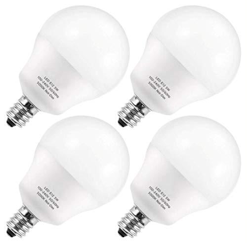 YSSMAO E12 LED Glühbirne A15 Candelabra G14 Globus 5W Tageslicht 5000K 600lm Raumlampe Deckenventilator Lichter 60W Äquivalent Küchenbüros 4 stücke