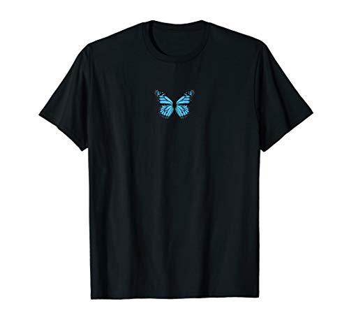 Blue Butterfly Fashion Emoji Icon Style T-Shirt