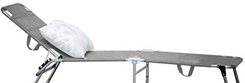 AP Auple Outdoor Rattan Rattanliege Lounger, belastbar bis 150 kg, mehrfach verstellbare Rückenlehne, Gartenliege, Relaxliege, Liegestuhl, Sonnenliege, Rattanmöbel@Grau