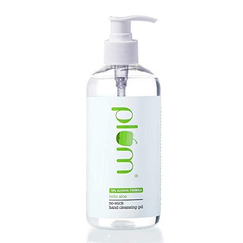 Plum Hello Aloe No-Stick Hand Cleansing Gel (Sanitizer) | For All Skin Types | Hand Cleanser | Aloe Vera | 100% Vegan | Paraben...
