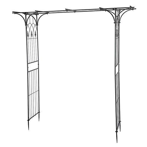 Arco para Enredaderas, 210 x 209 x 40cm, Arco de Boda de Hierro Elegante, Arco de Flores de Jardín