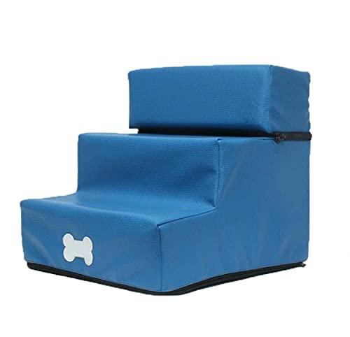Escalera para mascotas con 3 escalones para perros y escalones de escalada para mascotas antideslizante, resistente al agua, para camas altas, sofá/sofá, 30 x 35 x 30 cm