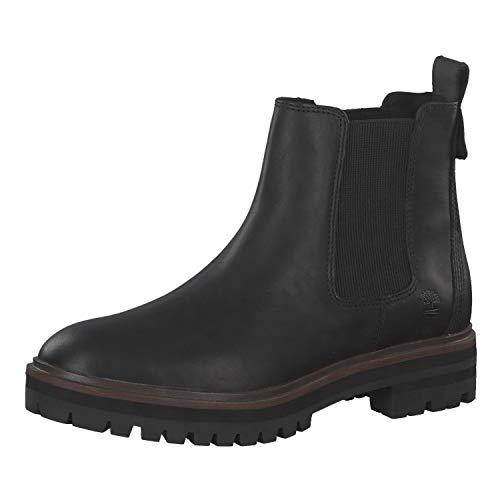 Timberland CA1RBJ London Square - Damen Schuhe Stiefeletten - chealse-Jet-Black, Größe:37 EU