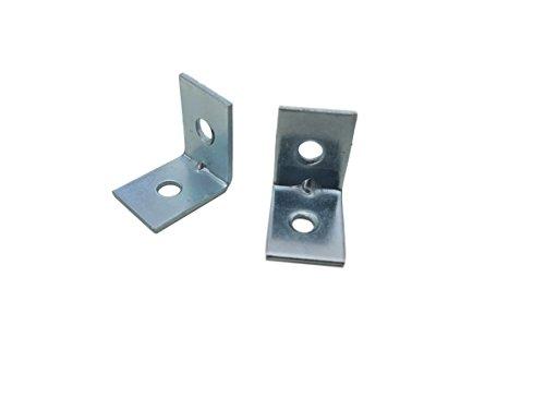 20 x 20 mm Hardware Brillante zc zinc chapado en esquina articulaci/ón 90 grados soportes placas Paquete de 50 piezas