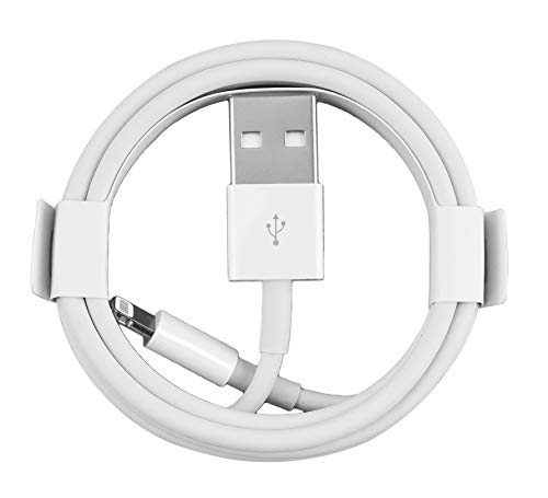 Cable iPhone USB A a Lightning [Apple MFi Certificado], 1 m, Paquete de 1, Blanco