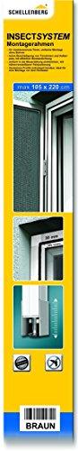 Schellenberg 50761 Insektenschutz-Montagerahmen für Balkon- oder Terrassentüren bis 105 x 220 cm