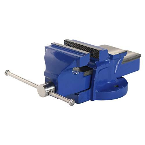 LUX-TOOLS Classic Schraubstock mit einer Spannweite von 100 mm | Zum Einspannen von Werkstücken | Aus robustem Stahlguss