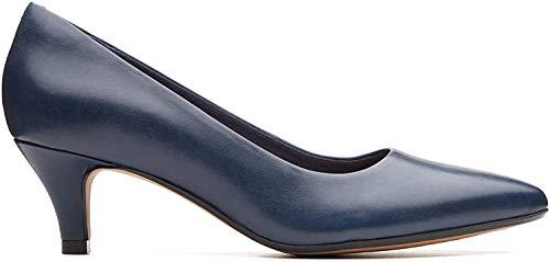 Clarks Linvale Jerica Frauen Wide Fit Kleid Court Shoes 4 D (M) UK/ 37 EU Marineblau