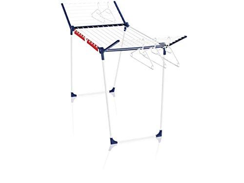 Leifheit séchoir sur pied Pegasus 200 Solid, étendoir à linge pliable pour extérieur & intérieur, séchoir à linge 20 m avec cintres résistants au vent
