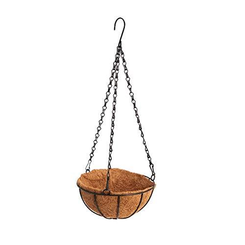 Dragonaur Pot de fleurs à suspendre en forme de coquille de noix de coco 25,40 cm