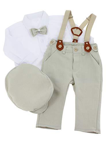 Boutique-Magique Costume bébé Mariage champêtre Costume Complet,18 mois,Beige